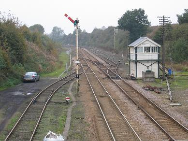Wymondham signal box, 27 October 2007. © David Flett