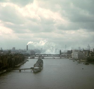 Towards Bankside from Tower Bridge, c1973. � Bill Hines Estate