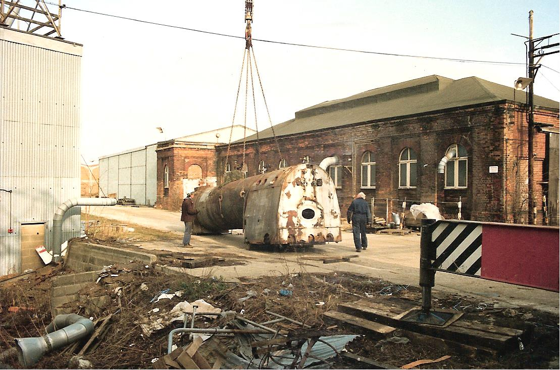 Atlantic boiler after discovery at the factory and before the cladding and asbestos were removed © 'Bluebell Atlantic Project'